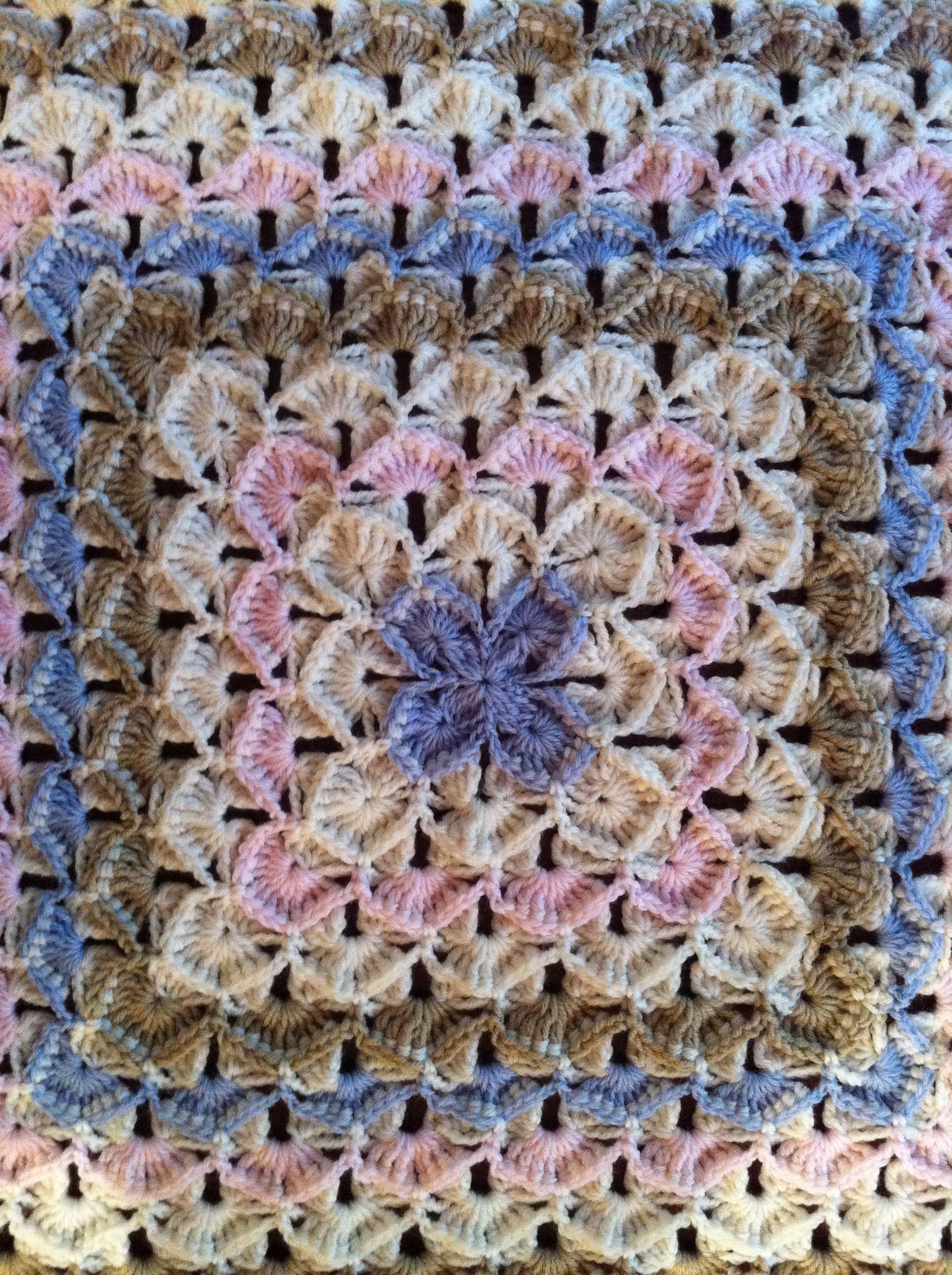 Crocheted Baby Blanket Pattern Is Known As Bavarian Rug By Macarena