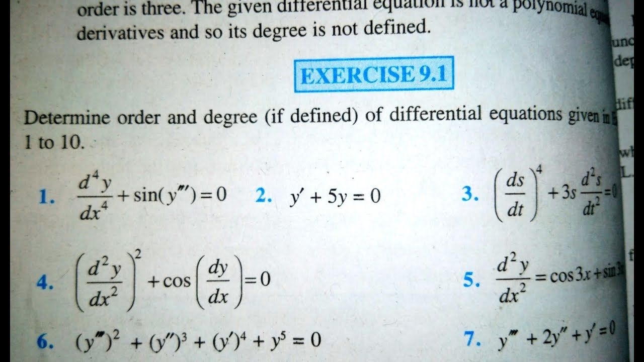 12 Th Ncert Mathematics Differential Equation Differential Equations Mathematics Exercise