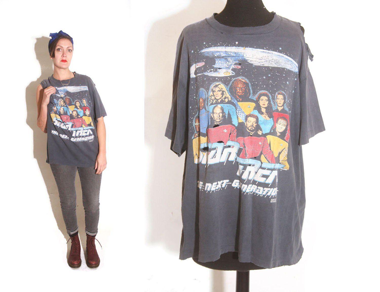 Vintage 1991 rare Star Trek Galaxy Overprinted movie t-shirt XL