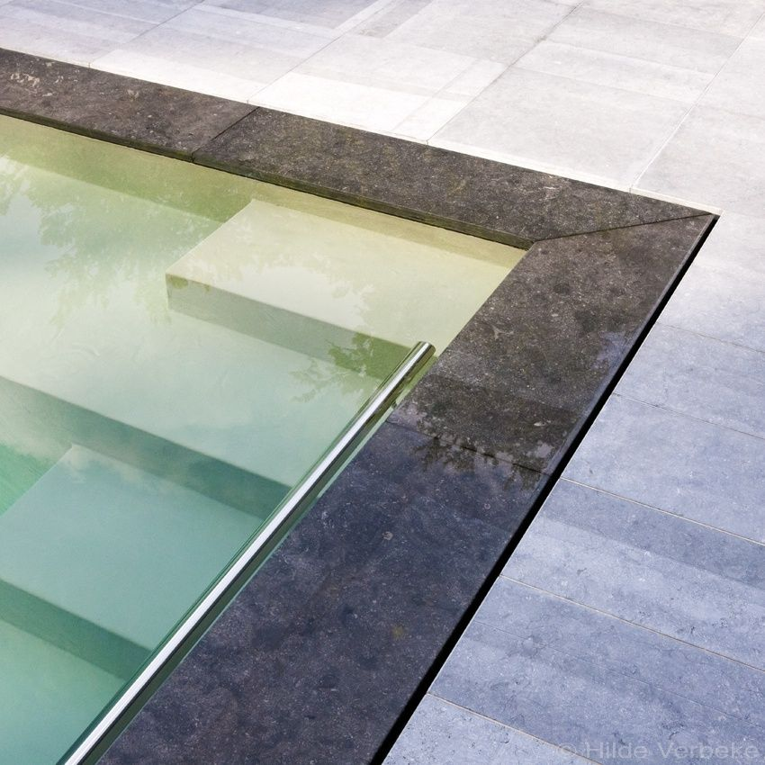 Sleek design pool, combined underflow and overflow system ...