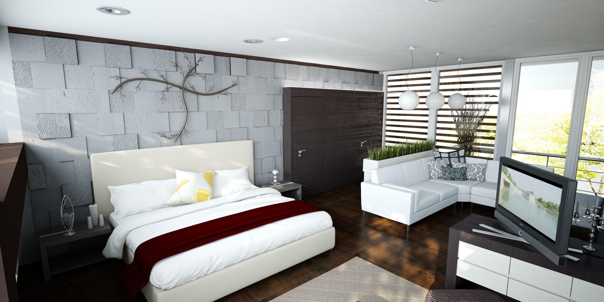 Un dise o interior basado en el uso de cantera gris de los for Diseno paredes interiores