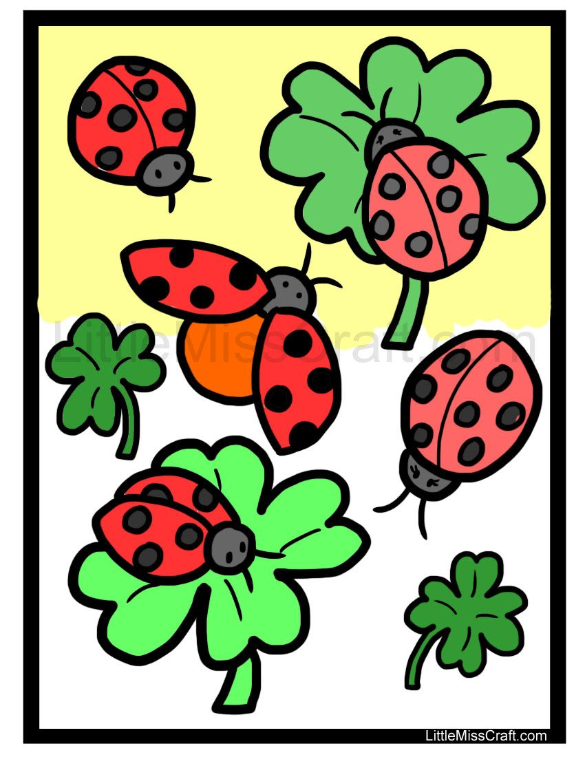 Cute Ladybug Coloring Page! Ready to print at http://littlemisscraft ...