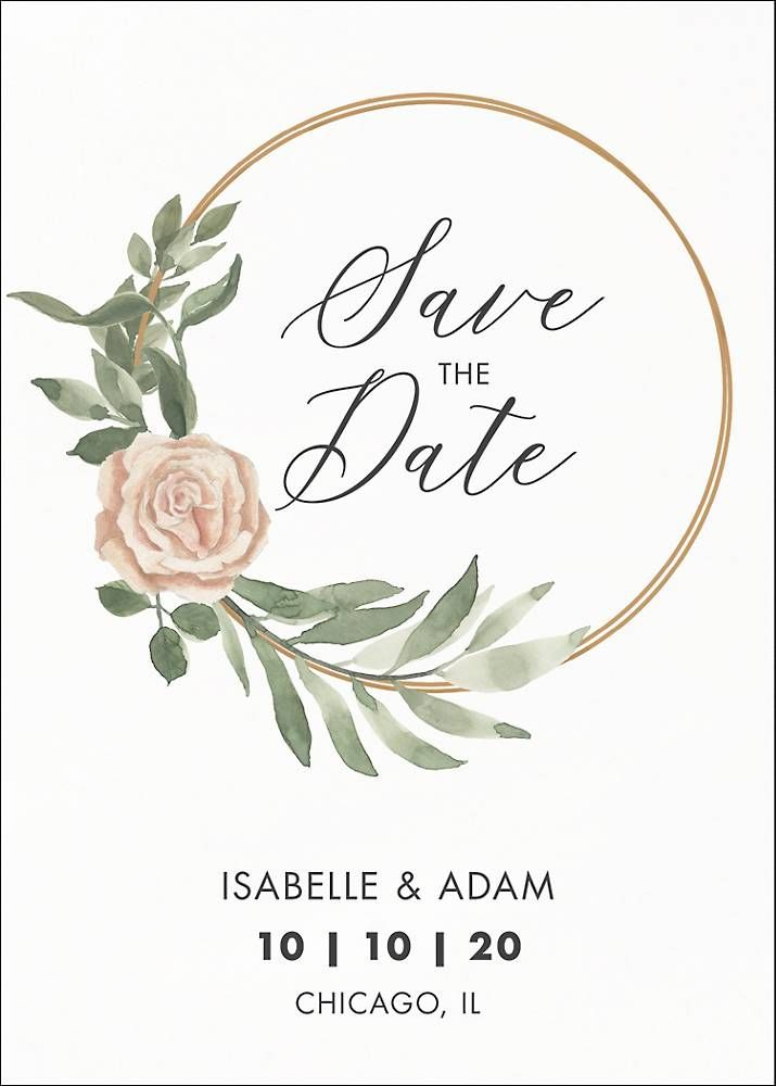 Photo of Hoop Wreath Save the Date Card | Paper Source