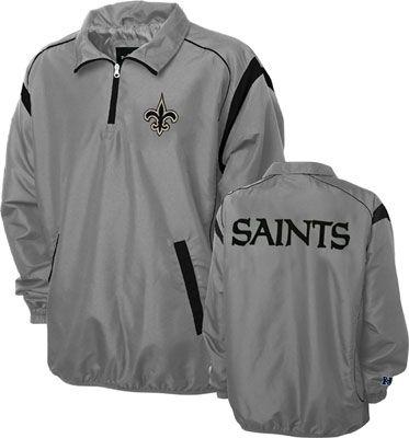 New Orleans Saints Grey Red Zone Quarter Zip Jacket #saints #nfl #neworleans