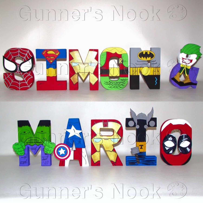Superhero Letters Freestanding