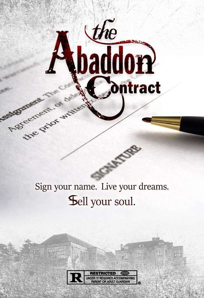 Another movie poster - The Abaddon Contract #battleshops Pinterest