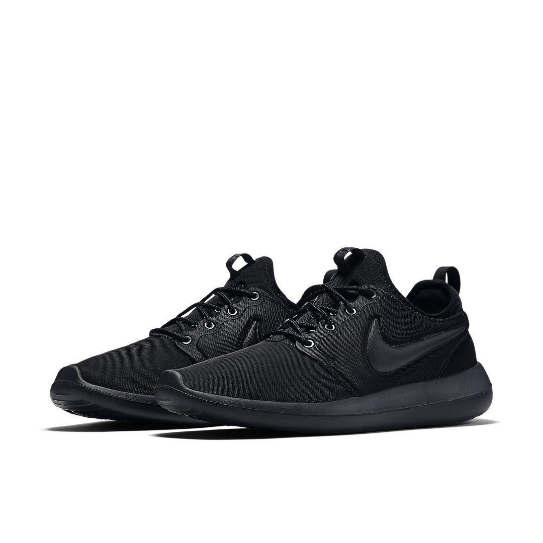 competitive price 6e164 0e753 Nike Roshe Two Triple Black   844656-001   Mens NK 2 Textile Volt Minimalism