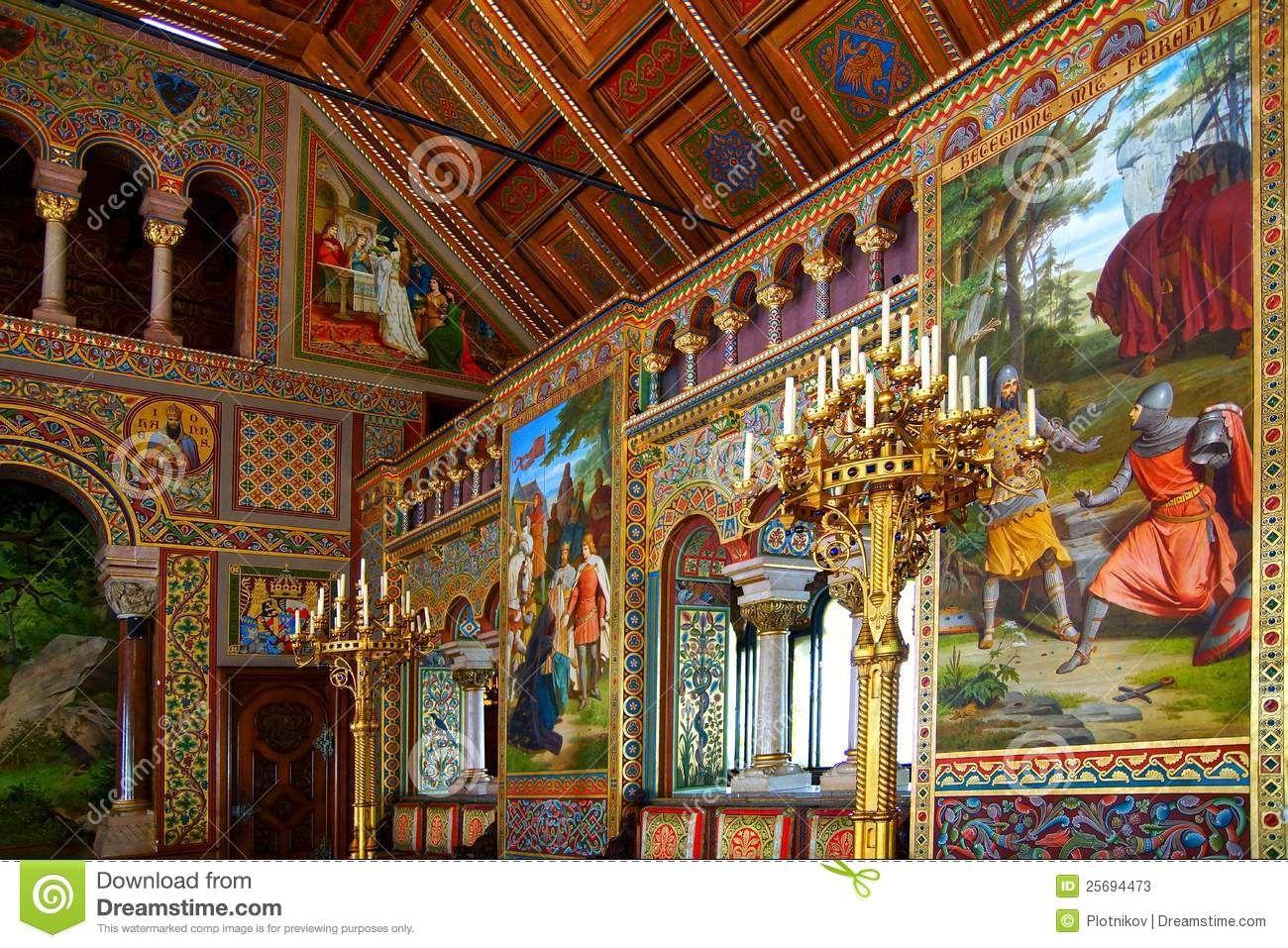 Schloss Neuschwanstein Sangersaal Castles Interior Neuschwanstein Castle Germany Castles