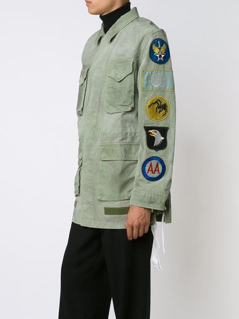 75f8dc5e0fa0 Off-White patch sleeve military jacket