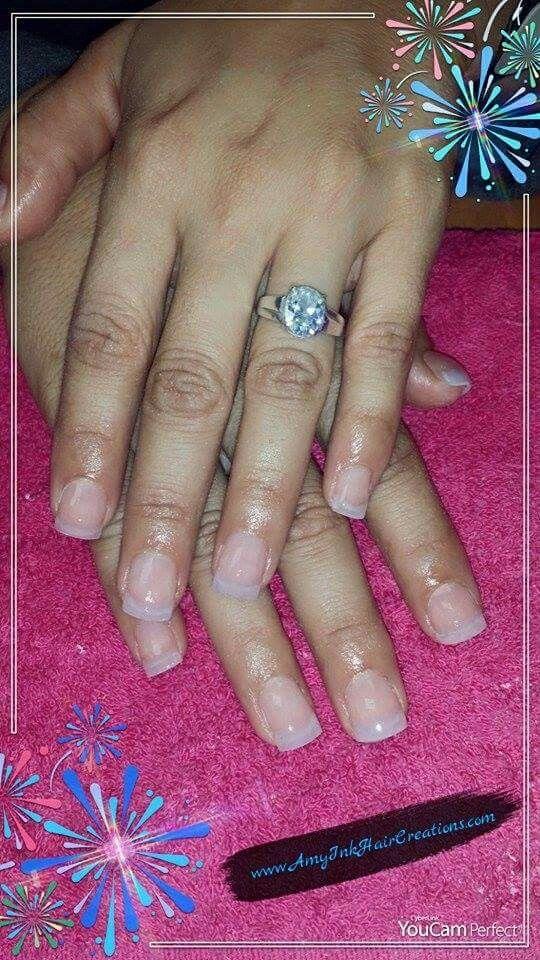 Natural Acrylic Nails Unas Acrylicas Natural Natural Acrylic Nails Work Nails Acrylic Nails