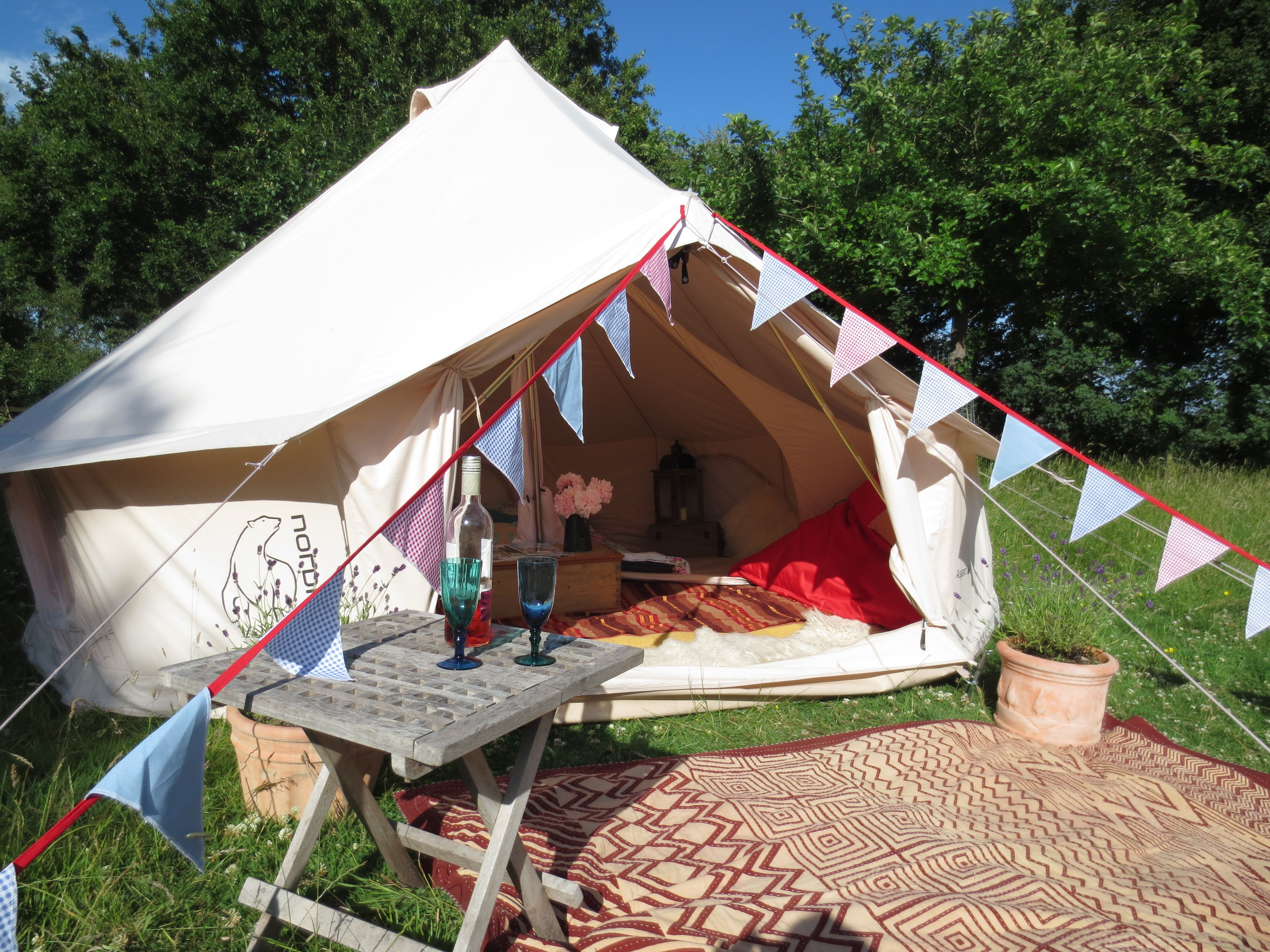Amazing Tent Gl&ing Ideas - Go Travels Plan & Bell tent #camping in sunny England. The perfect setup ...