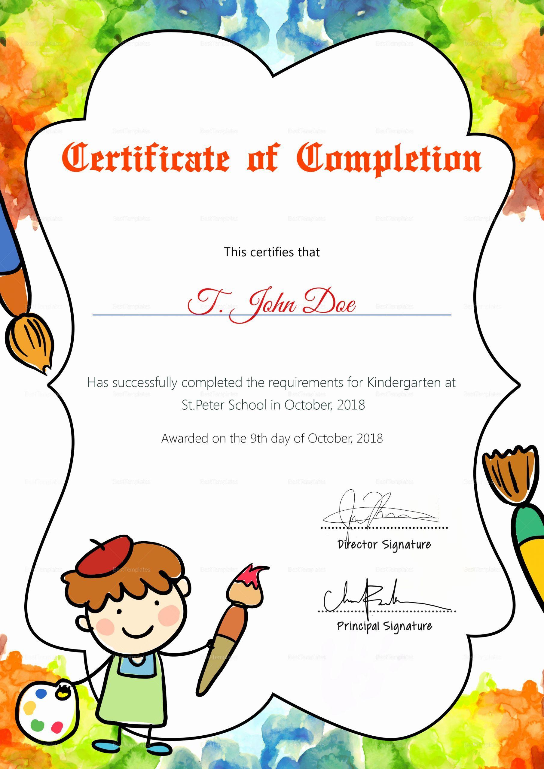 Pre K Certificate Templates Best Of Pre School Graduation