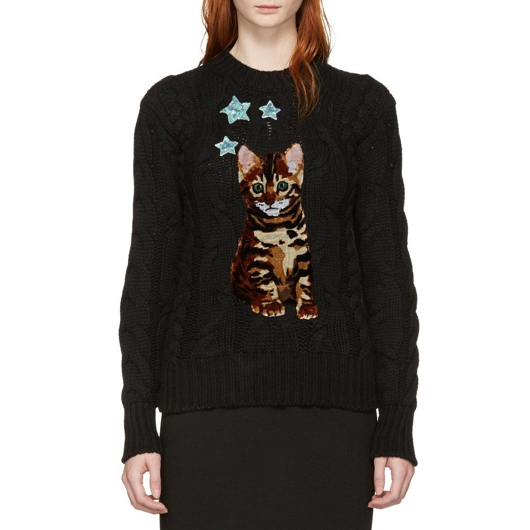 Dolce & Gabbana Black Bengal Kitten Sweater