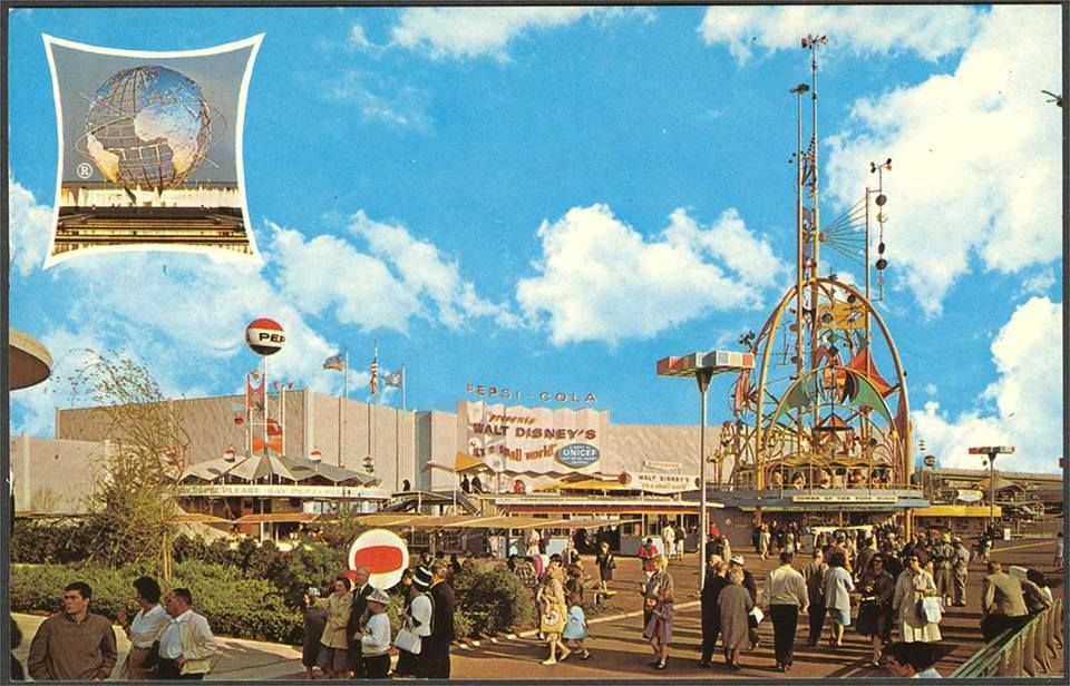Vintage postcard from the 1964 1965 World's Fair! PEPSI