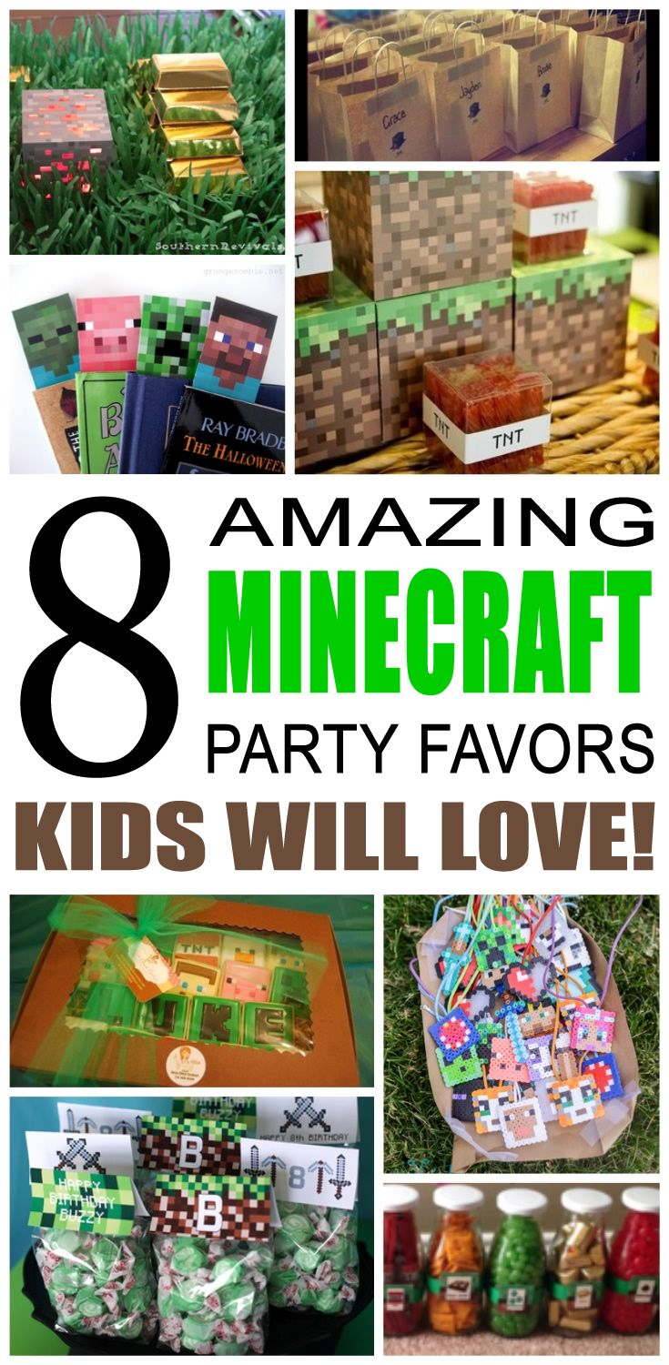 Minecraft Party Favor Ideas Minecraft party favors Party favour