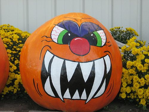 Gallery For Scary Painted Pumpkins