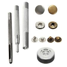 30 Poppers 10mm Snap fastener Press Stud Kit w/Fixing Tool Sewing