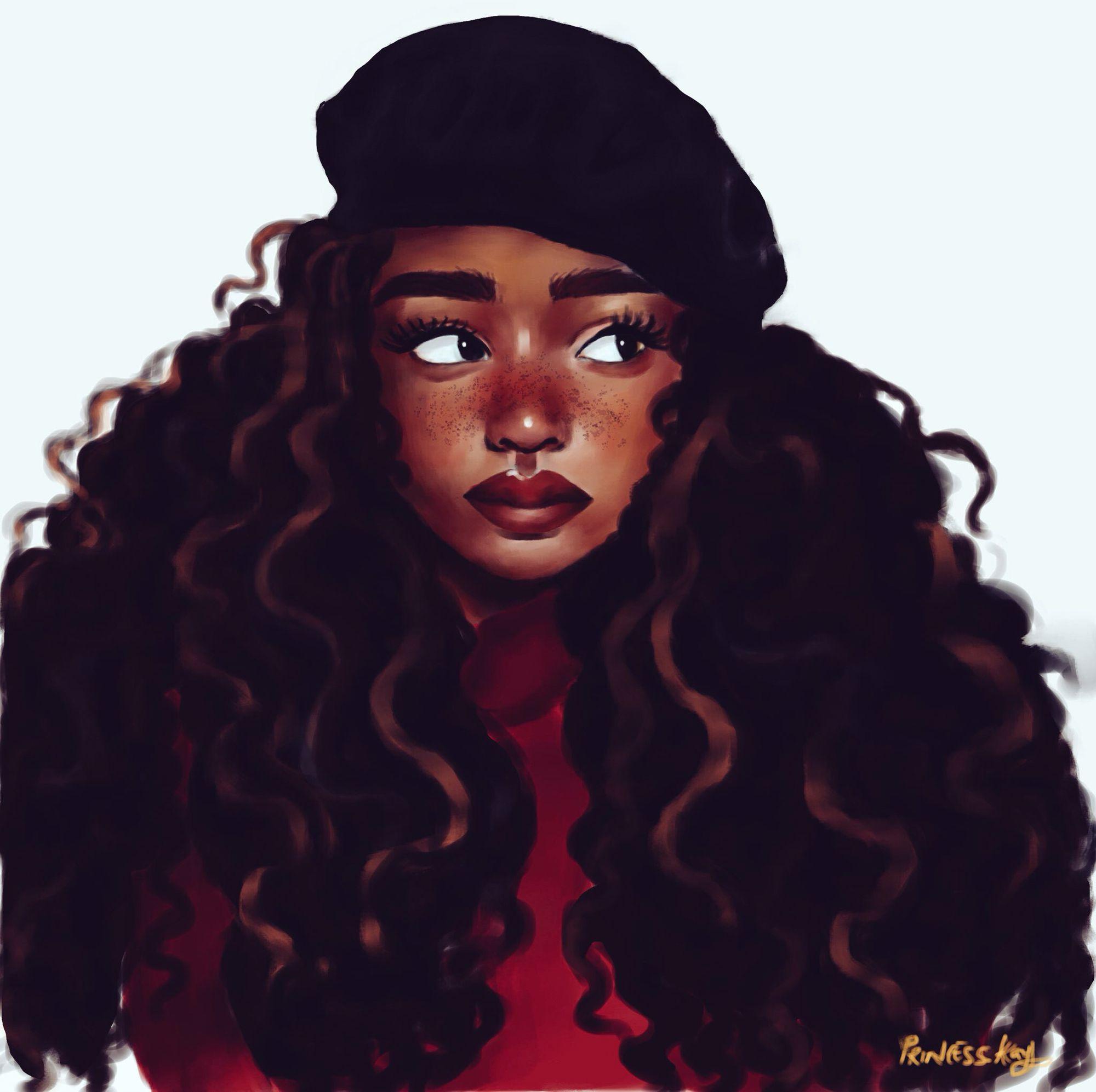 Black Art Ig Princess Kay Freckles And A Barrette Black Girl