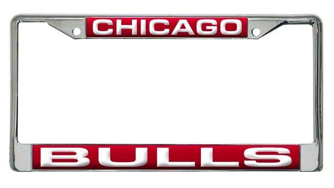 Chicago Bulls Laser Cut Chrome License Plate Frame | Chicago ...