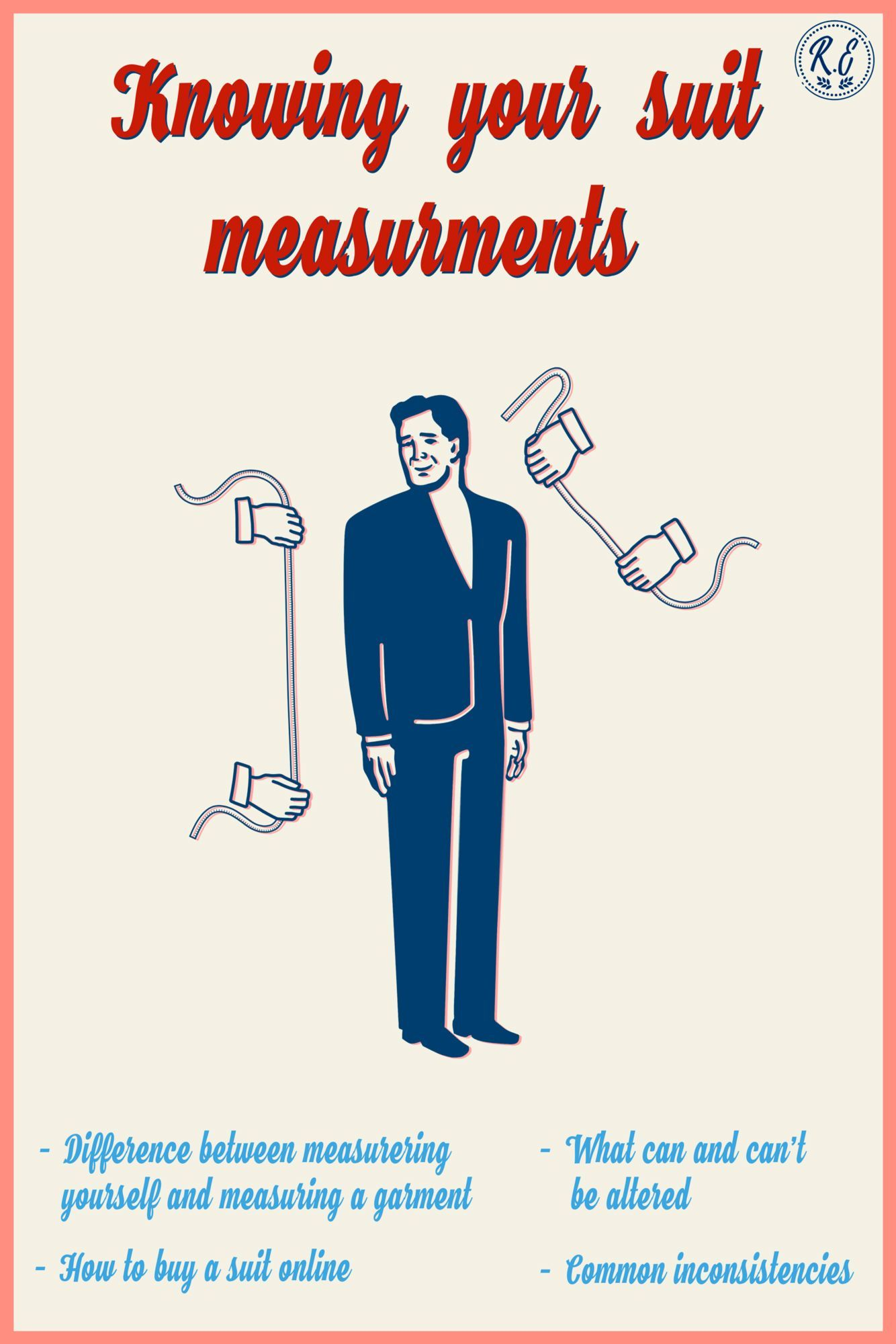 Learn how to measure yourself and how to measure a suit