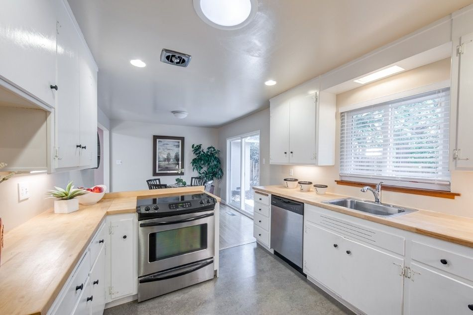 Great Contemporary Kitchen With Complex Granite Floors U0026 Wood Counters In WALNUT  CREEK, CA