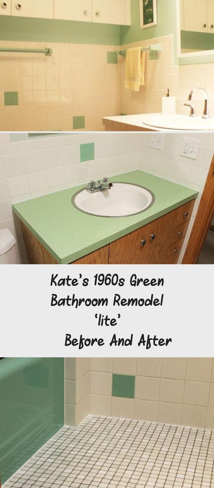 Kate's 1960s Green Bathroom Remodel 'lite' — Before And ...