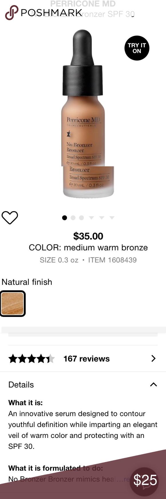 "Dr. Perricone ""No Bronzer"" Liquid Bronzer •brand new"