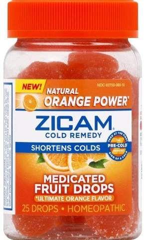 Zicam Medicated Fruit Drops Ultimate Orange 25ct