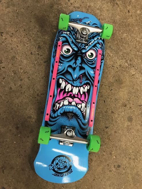 4fa1d2e367e5 Santa Cruz Old School Reissue Rob Roskopp Face Blue Complete 9.5