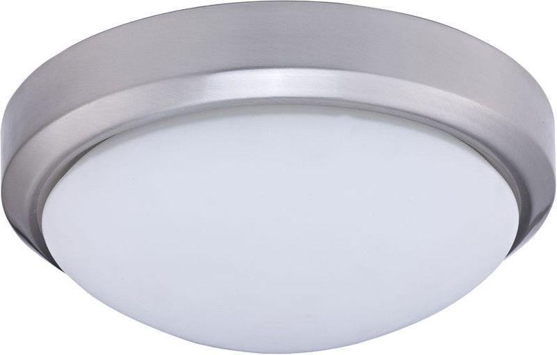"Dainolite 2 Lite Satin Chrome 13"" Flush Ceiling Fixture 881-13FH-SC"