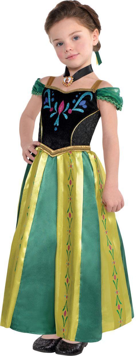 Toddler Girls Anna Coronation Costume - Frozen - Party City - frozen halloween decorations