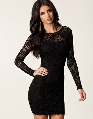 Sexy Laced Open Back Cocktail Dress Black Pretty Prissy Girly Fun