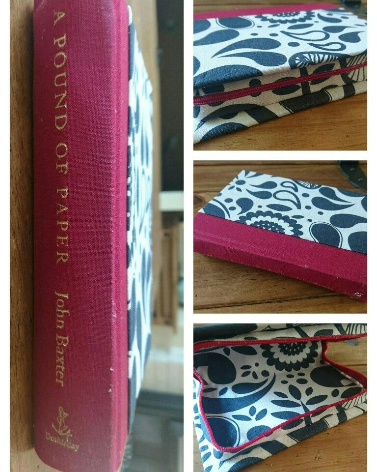 Book Clutch Bags £13.99 In a range of different colours and patterns Perfect quirky presents  Please contact me with your preferred fabric colour or pattern idea. £1 deducted from the price if you provide your own hardback book. P&P £2.80 for 2nd Class Postage or £3.20 for 1st Class