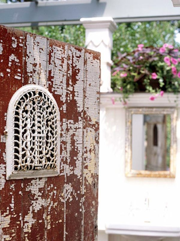 Grate Ideas Antique metal vent covers grates and other indoor pieces move easily outdoors to add decorating interest to garden rooms of all types. & Pin by Dana Hogan on Grate Gifts | Pinterest | Fences and Doors