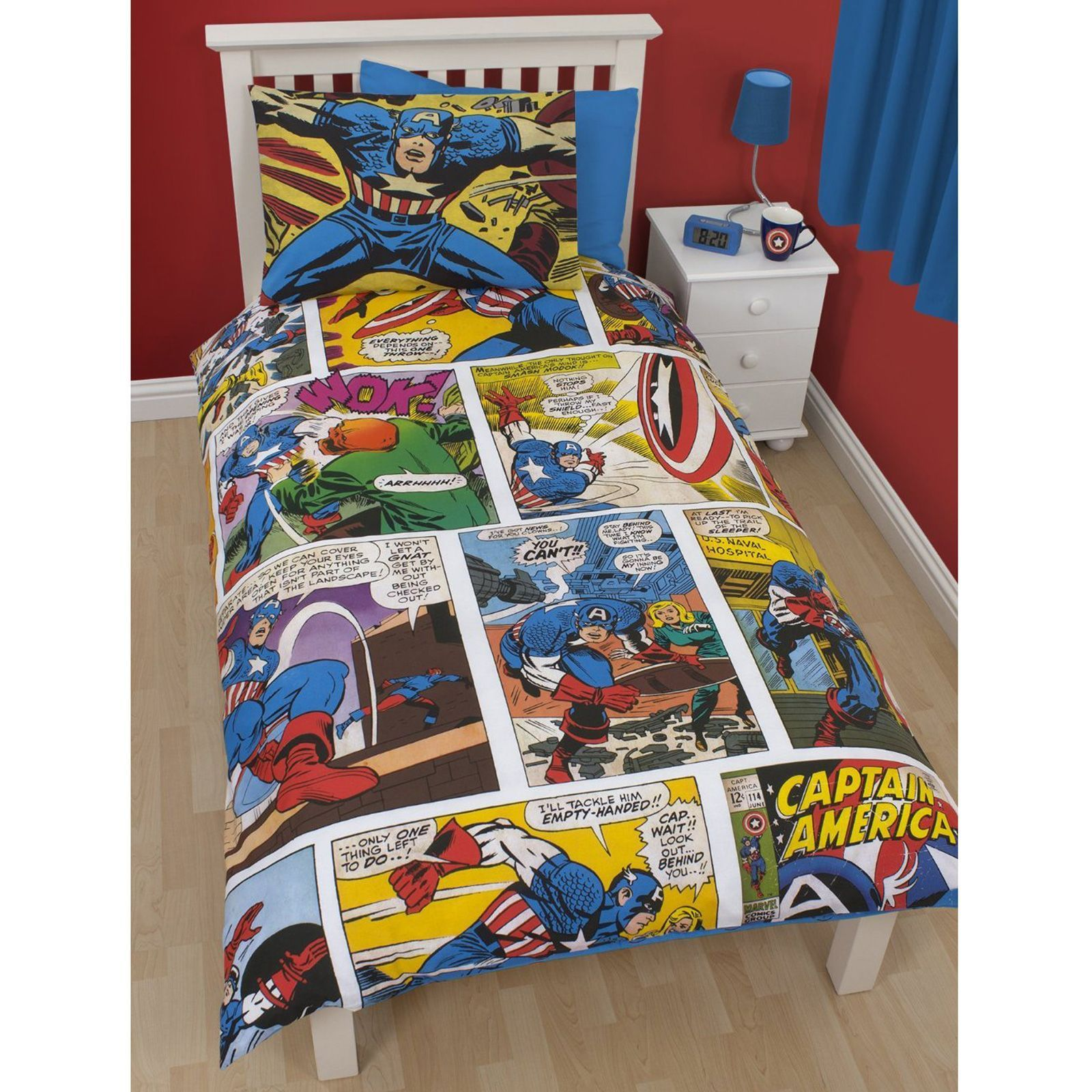 Marvel bedding can be the great choice for the bedding set of the kid's  bedroom and