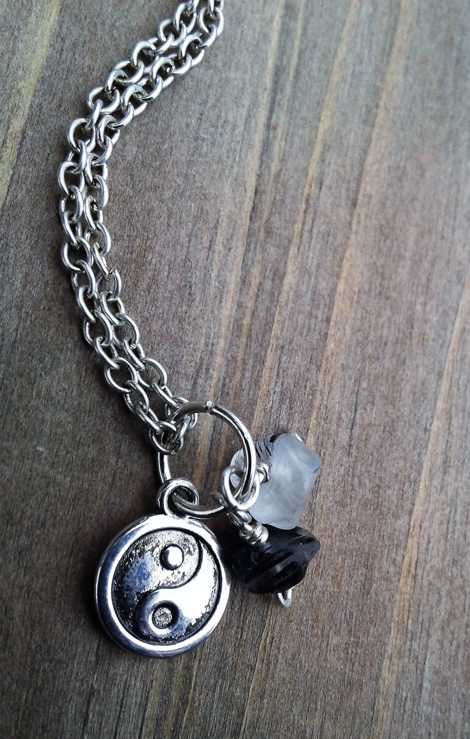 Tiny Yin Yang Necklace Healing Jewelry Inspirational Gift Birthday Anniversary Under 10 Mothers Day For Mom