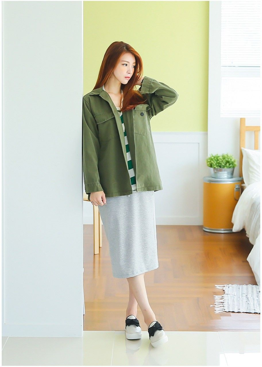 Magaret Washing Jacket | Korean Fashion