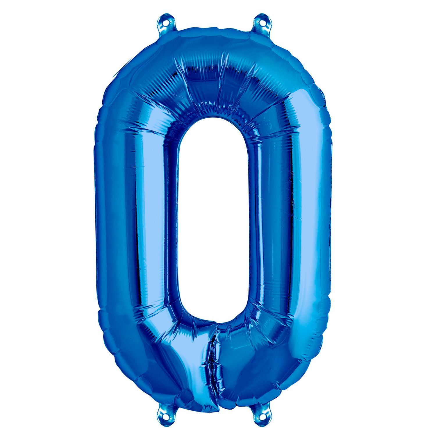 0 Blue Number Balloons