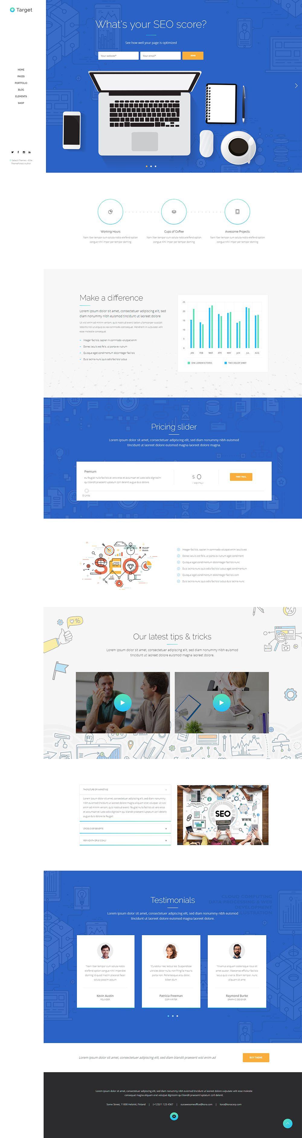 Target Seo Home Business Wordpress Themes Seo Web Design
