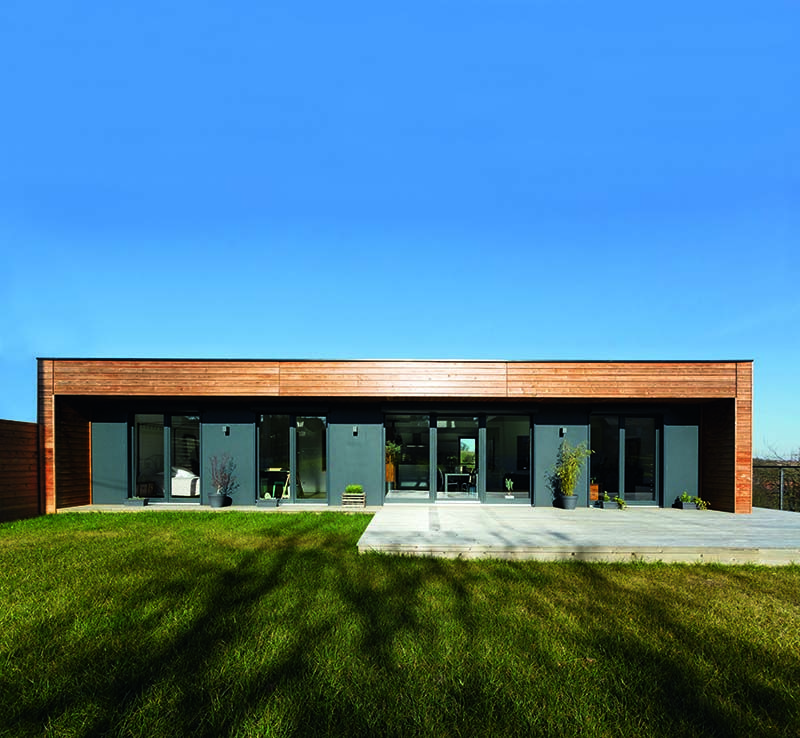 Maison Design A Ossature Et Bardage Bois Signee Par Le