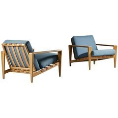 Pair Of Swedish Lounge Chairs By Svante Skogh For Seffle Möbelfabrik