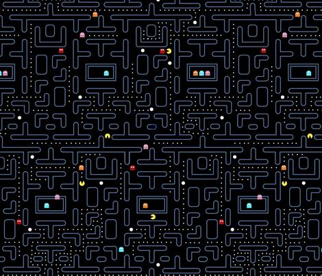 Mock Pacman 2.0 fabric by pixeldust on Spoonflower