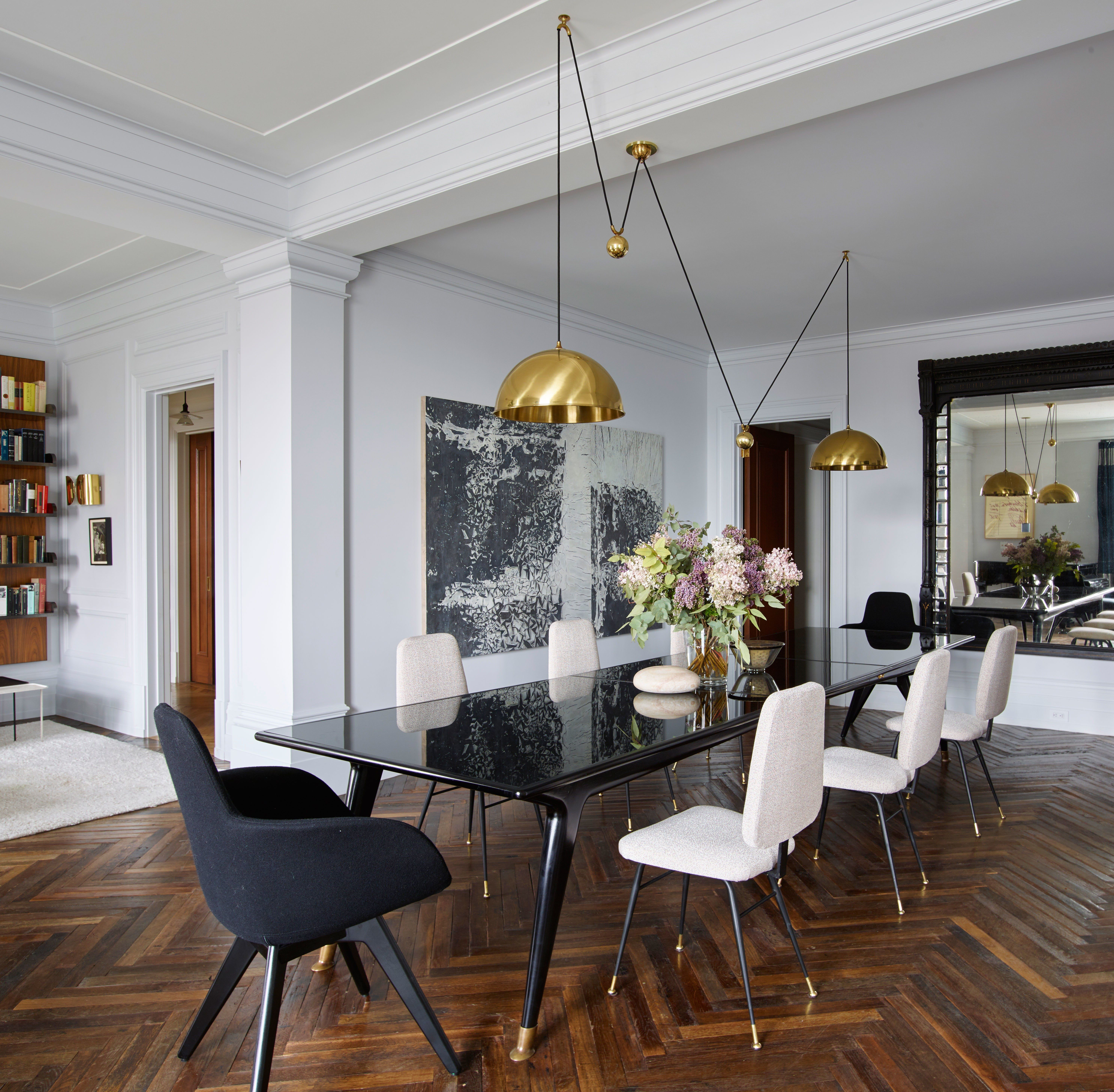 126 Custom Luxury Dining Room Interior Designs: An Elegant Aerie Overlooking Central Park Is Revived With