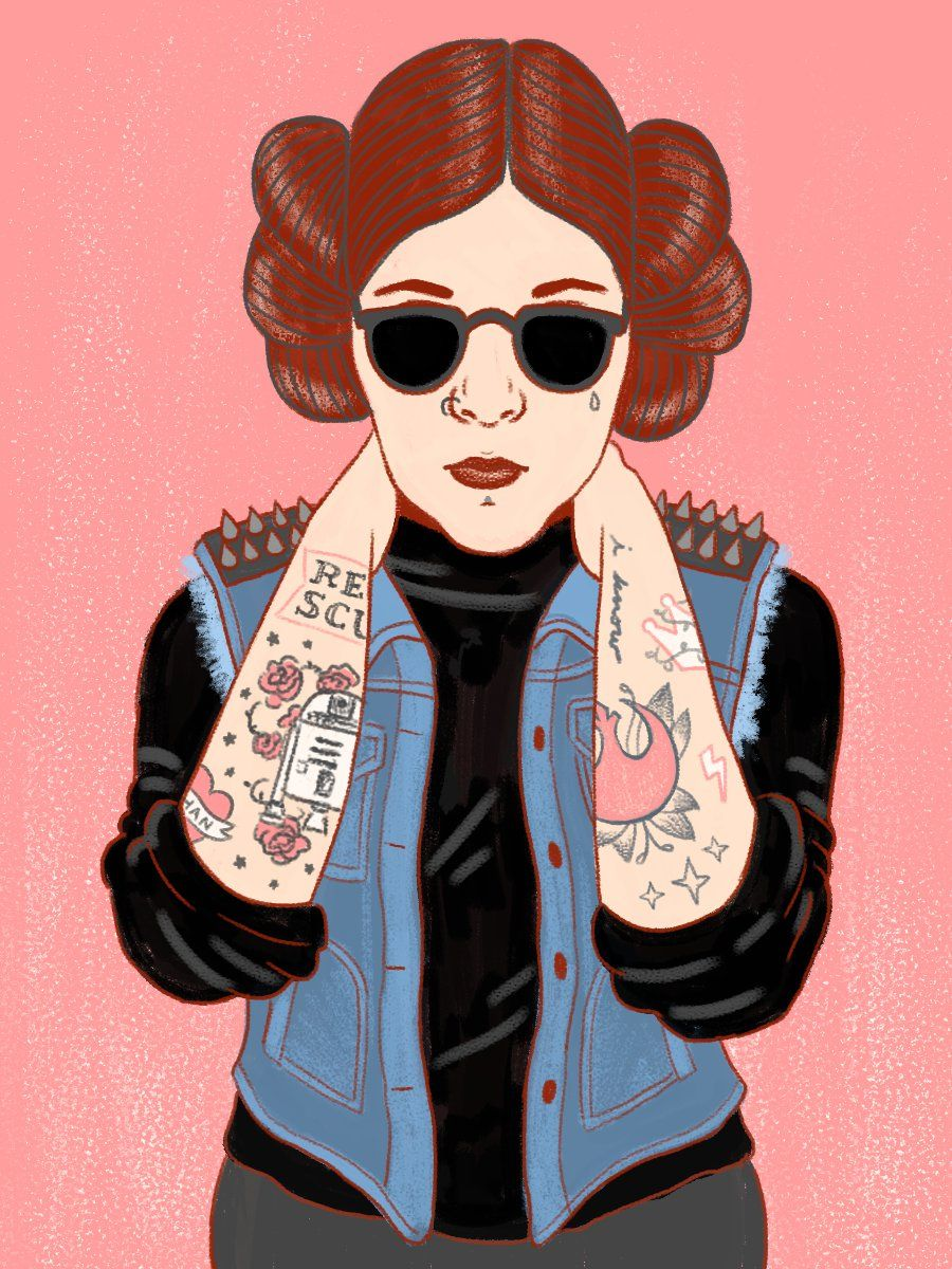 Julian Callos inspired  Punk Leia Vest Back Patches All or Some