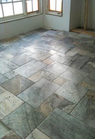 Picasso Travertine Floor Arranged In A Versailles Pattern