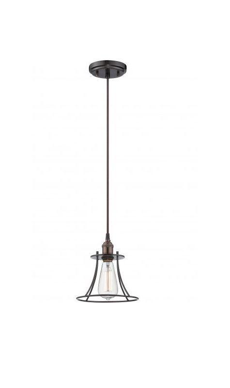 """Nuvo Lighting 60/5511 Vintage 7.75"""" Width 1 Light Mini Single Pendant in Rustic Rustic Bronze Indoor Lighting Pendants"""