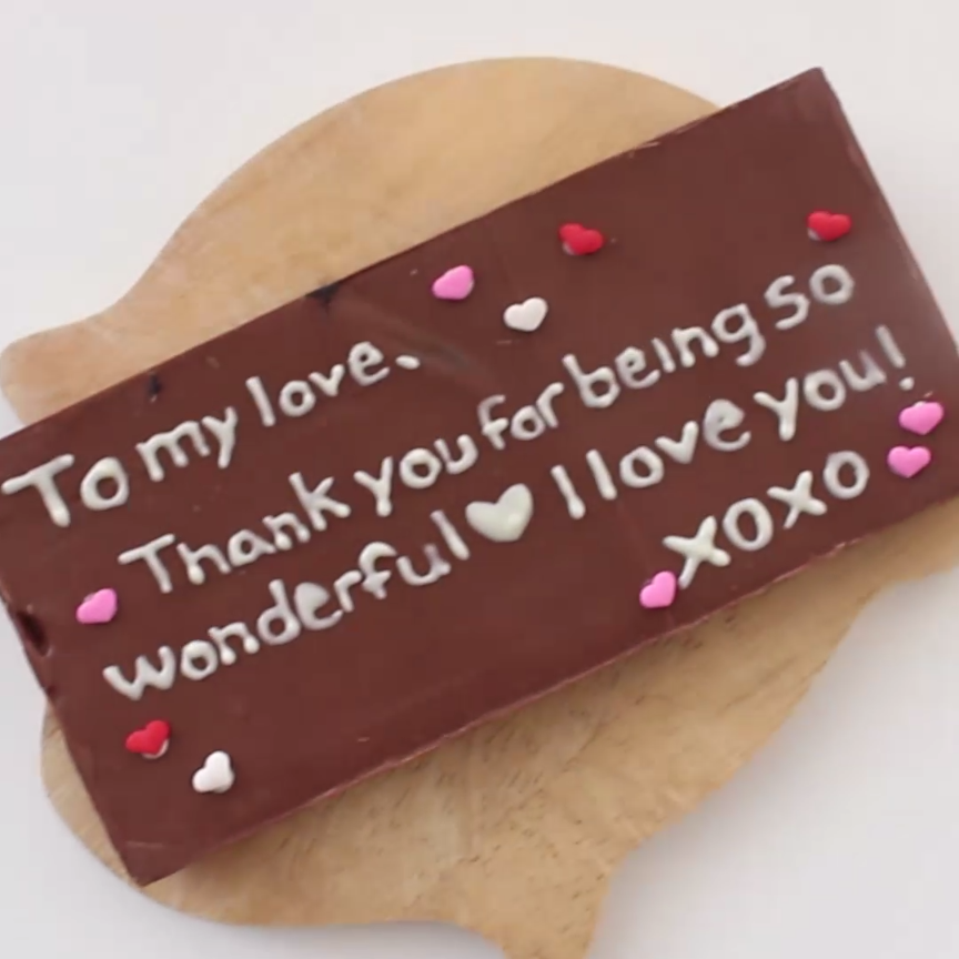 Edible Chocolate Love Letters
