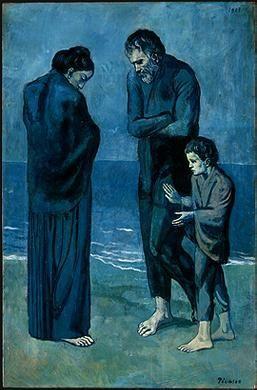 Poveri In Riva Al Mare Olio Su Tela 1903 Pablo Picasso Periodo Blu Washington Nel National Gallery Of Art Picasso Dipingere Idee Galleria D Arte