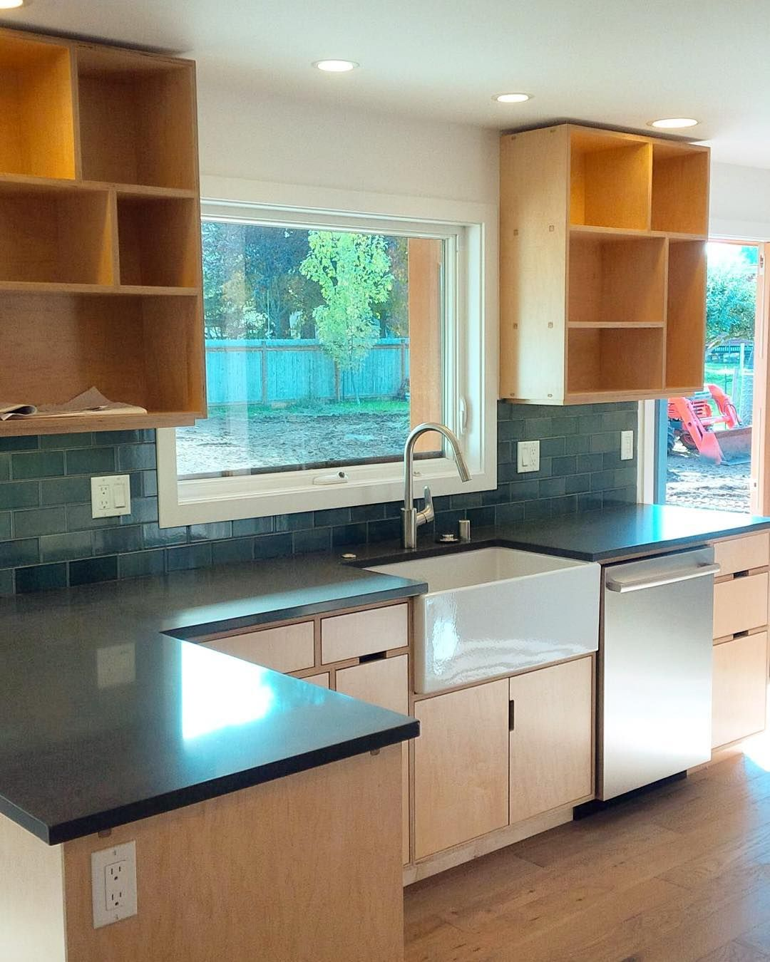 Maple plywood kitchen, installed and ready to go! By Kerf … | KERF ...