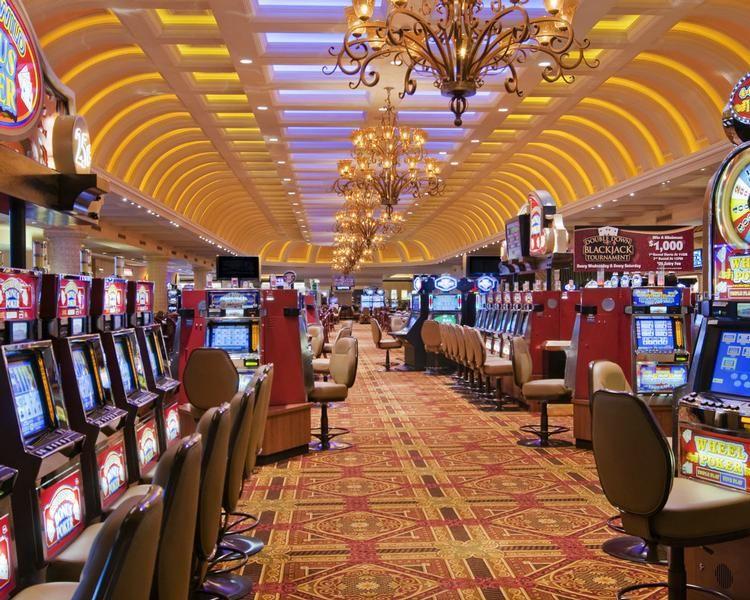 The casino floor at the Suncoast Hotel & Casino
